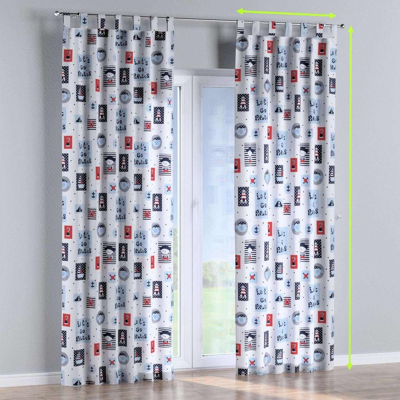 Tab top curtains in collection Little World, fabric: 141-29