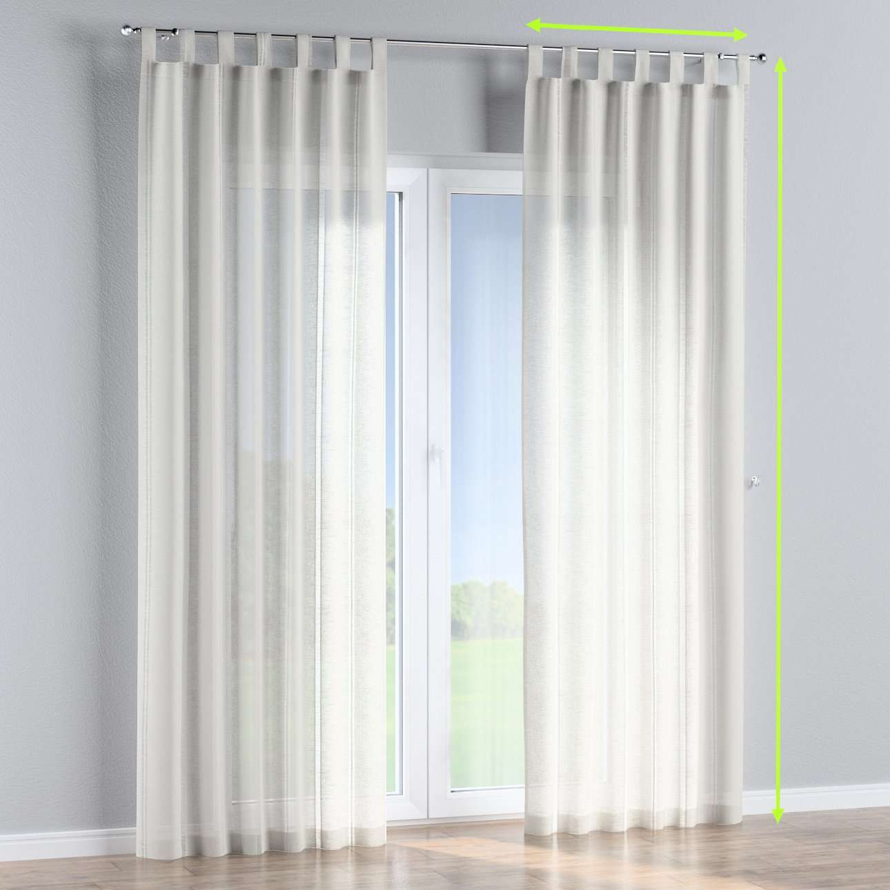 Tab top curtains in collection Romantica, fabric: 141-30