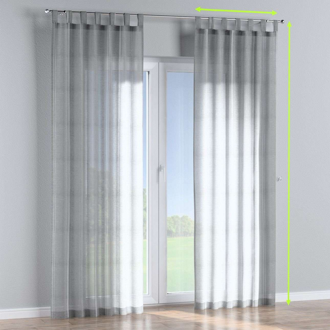 Tab top curtains in collection Romantica, fabric: 141-31