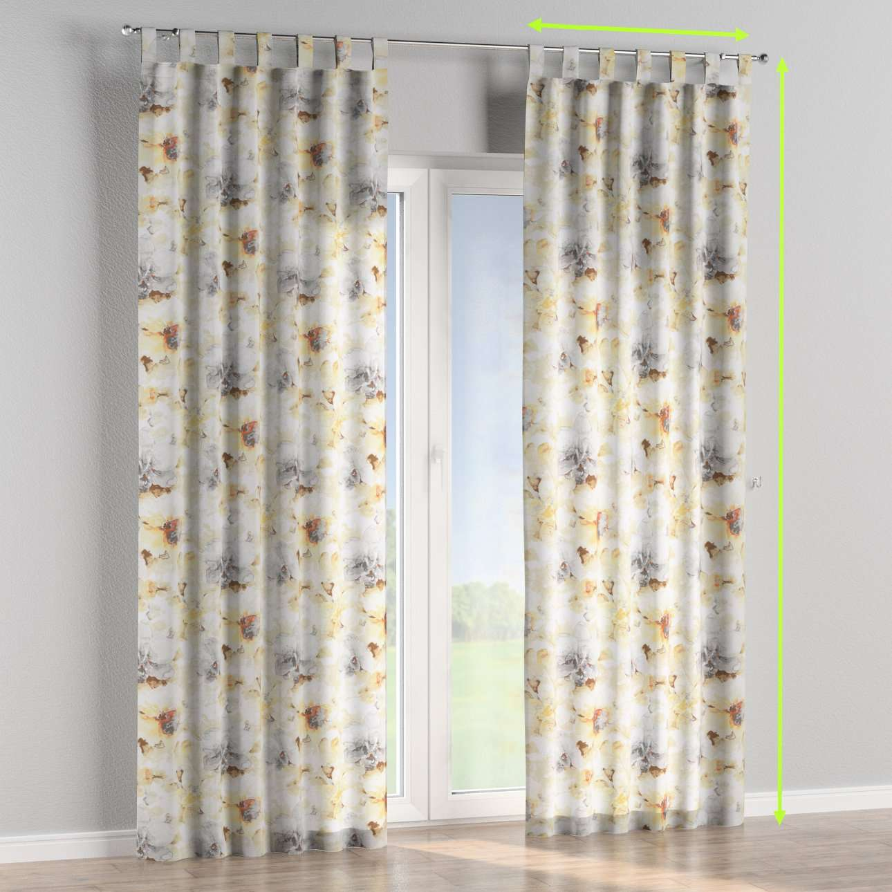 Tab top curtains in collection Acapulco, fabric: 141-33