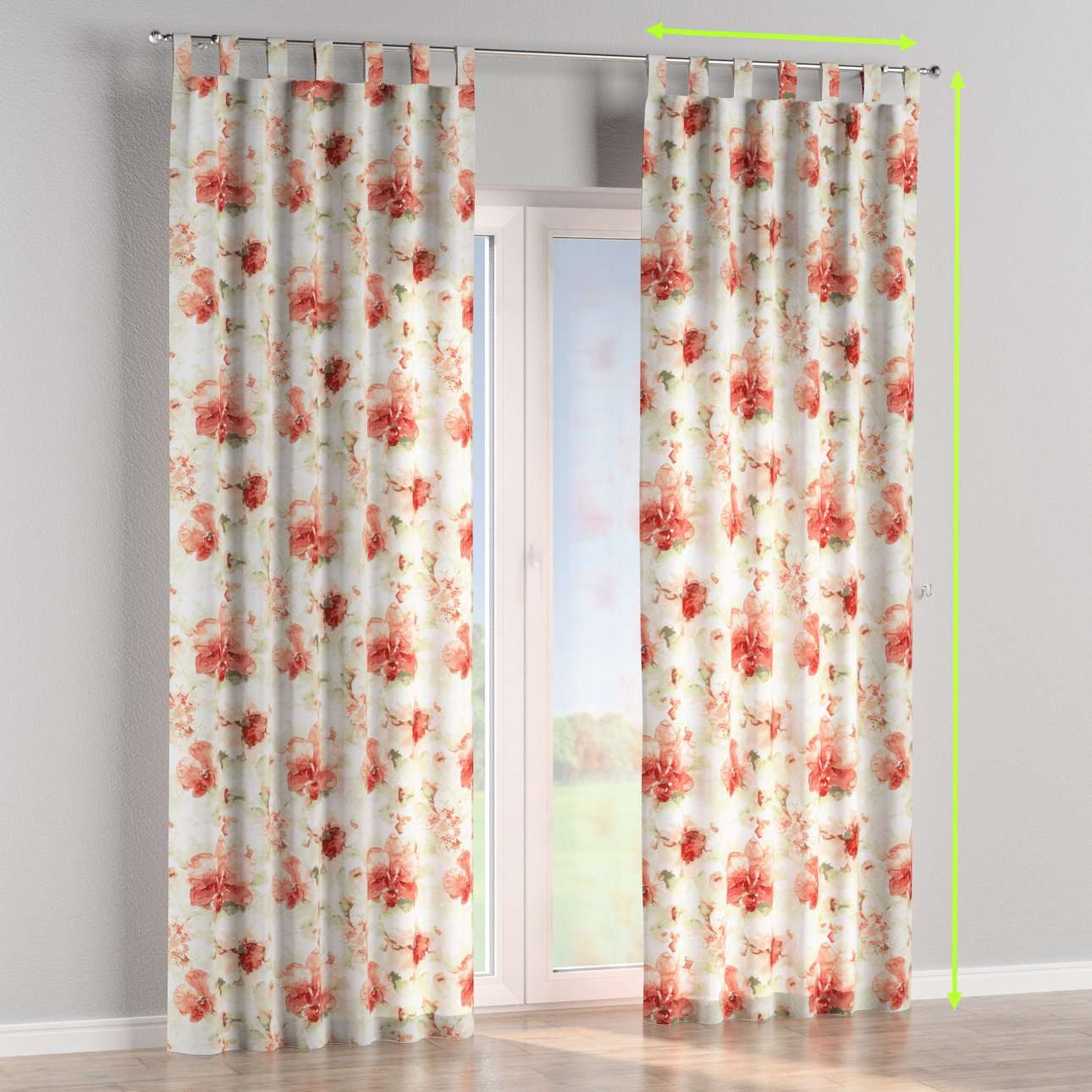 Tab top curtains in collection Acapulco, fabric: 141-34