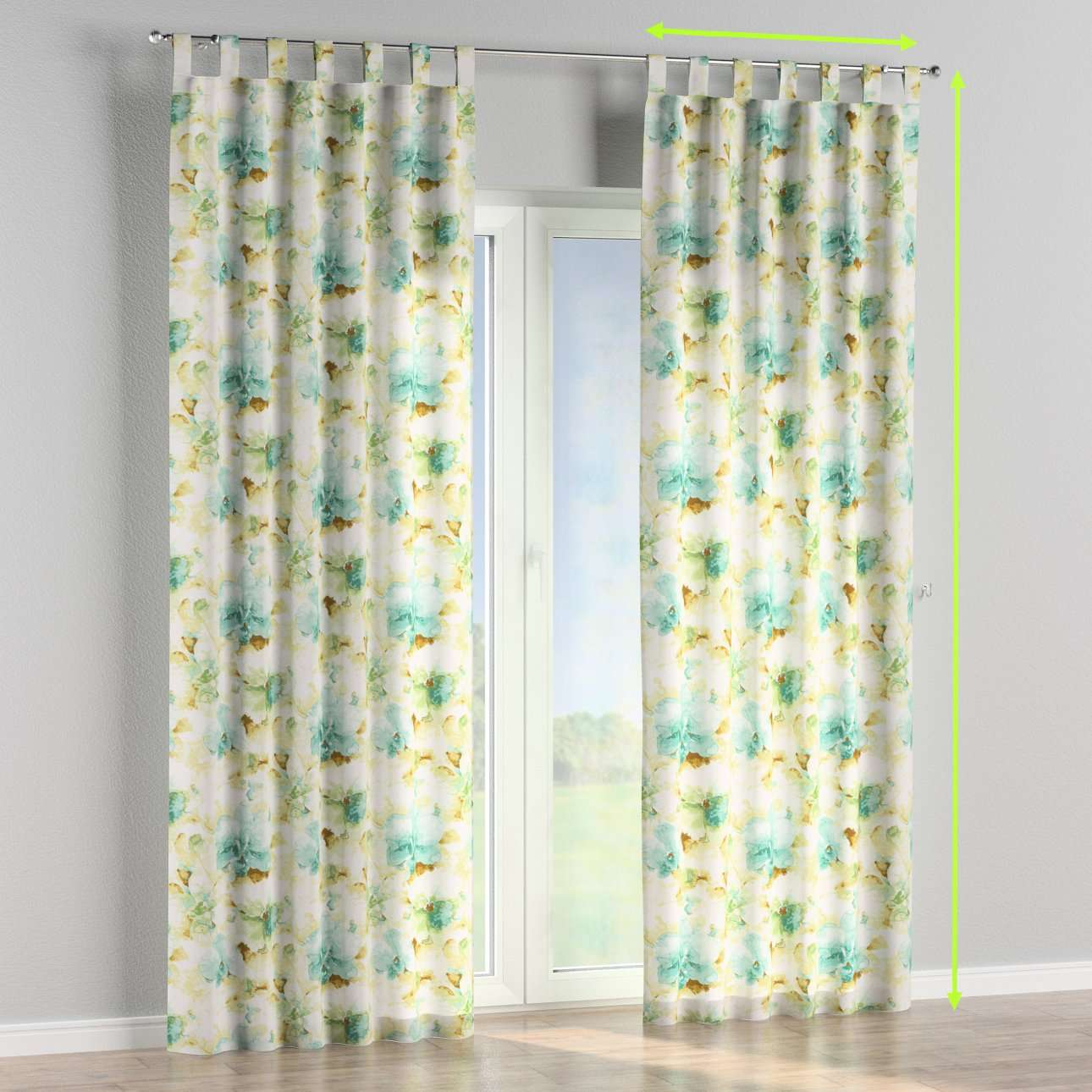 Tab top curtains in collection Acapulco, fabric: 141-35