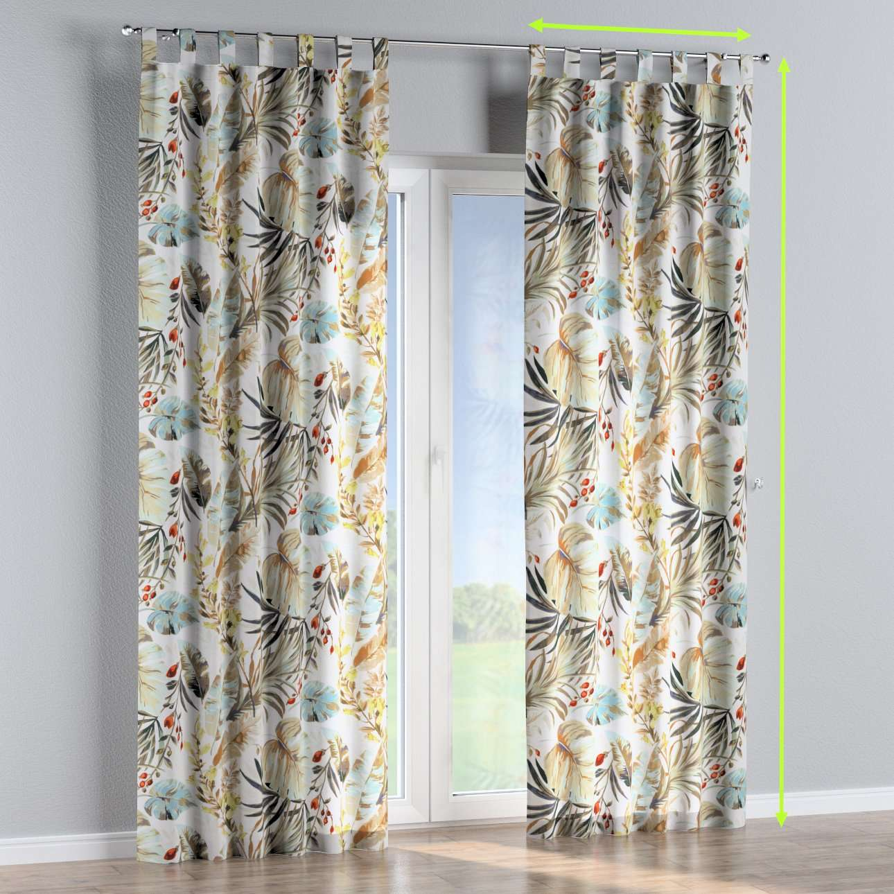 Tab top curtains in collection Urban Jungle, fabric: 141-42