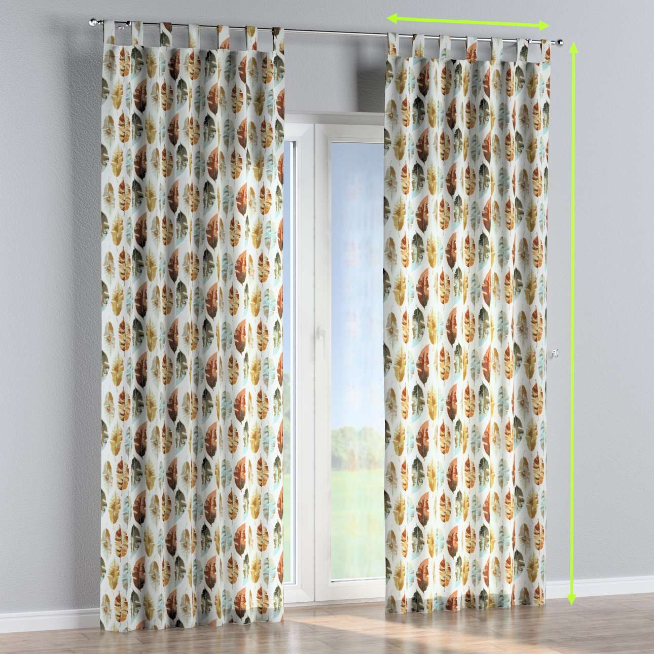 Tab top curtains in collection Urban Jungle, fabric: 141-43