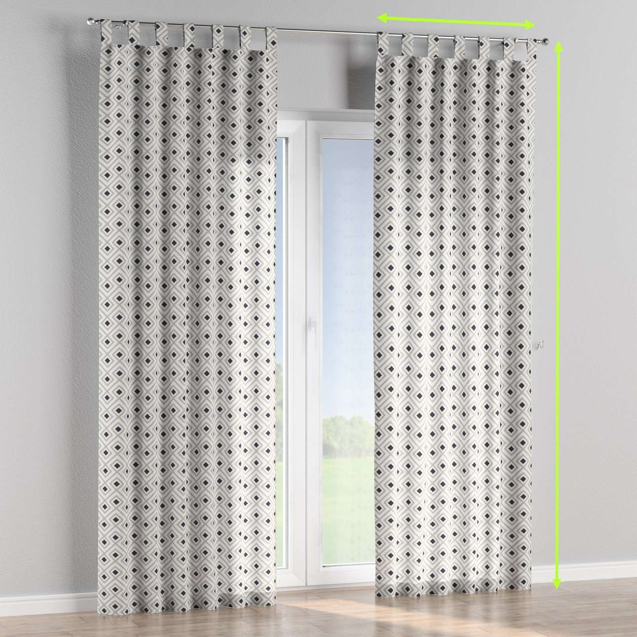 Tab top curtains in collection Geometric, fabric: 141-44