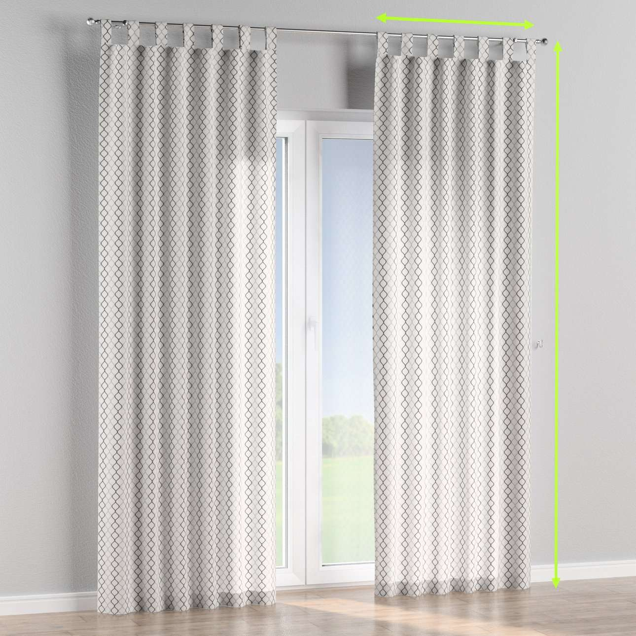 Tab top curtains in collection Geometric, fabric: 141-46