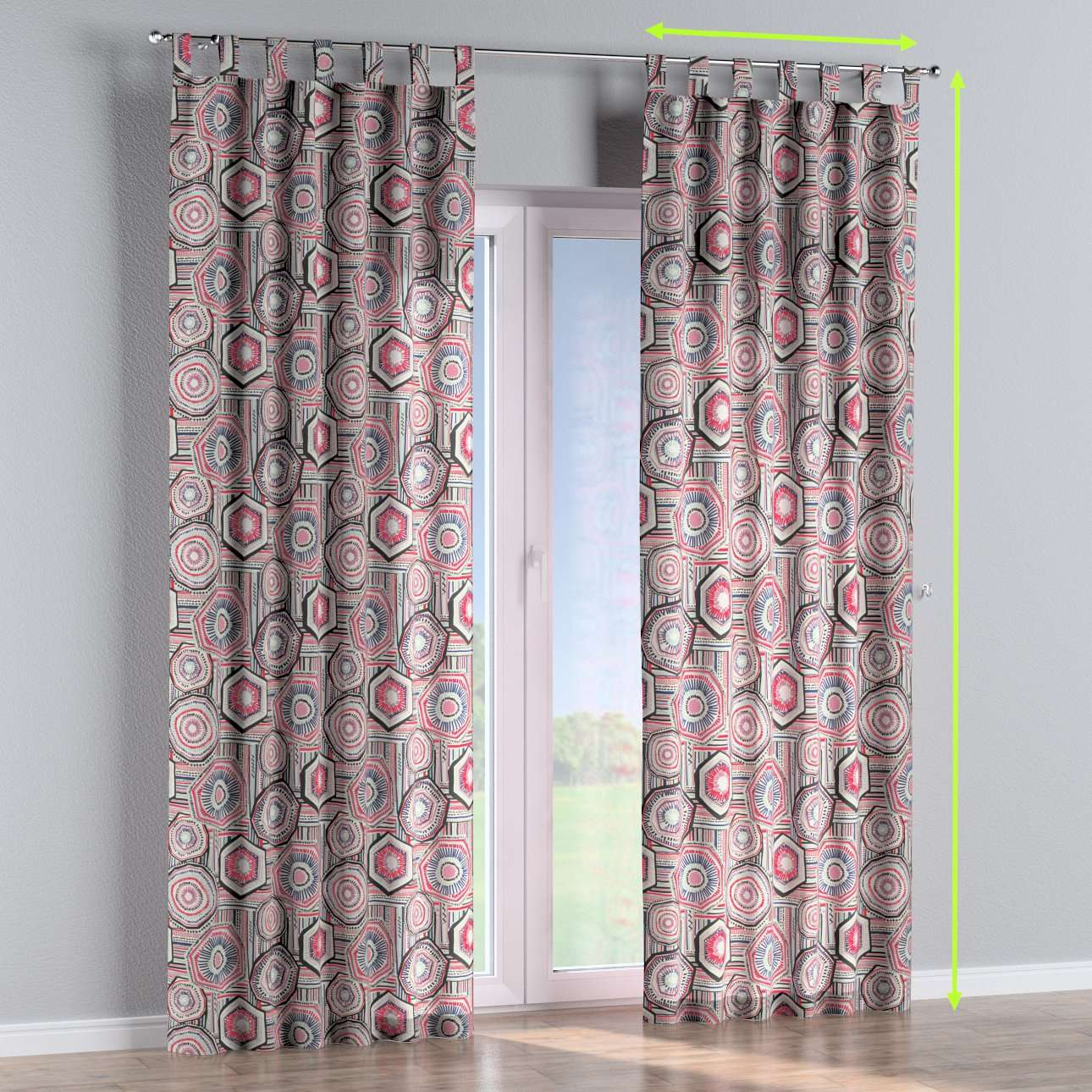 Tab top curtains in collection New Art, fabric: 141-54