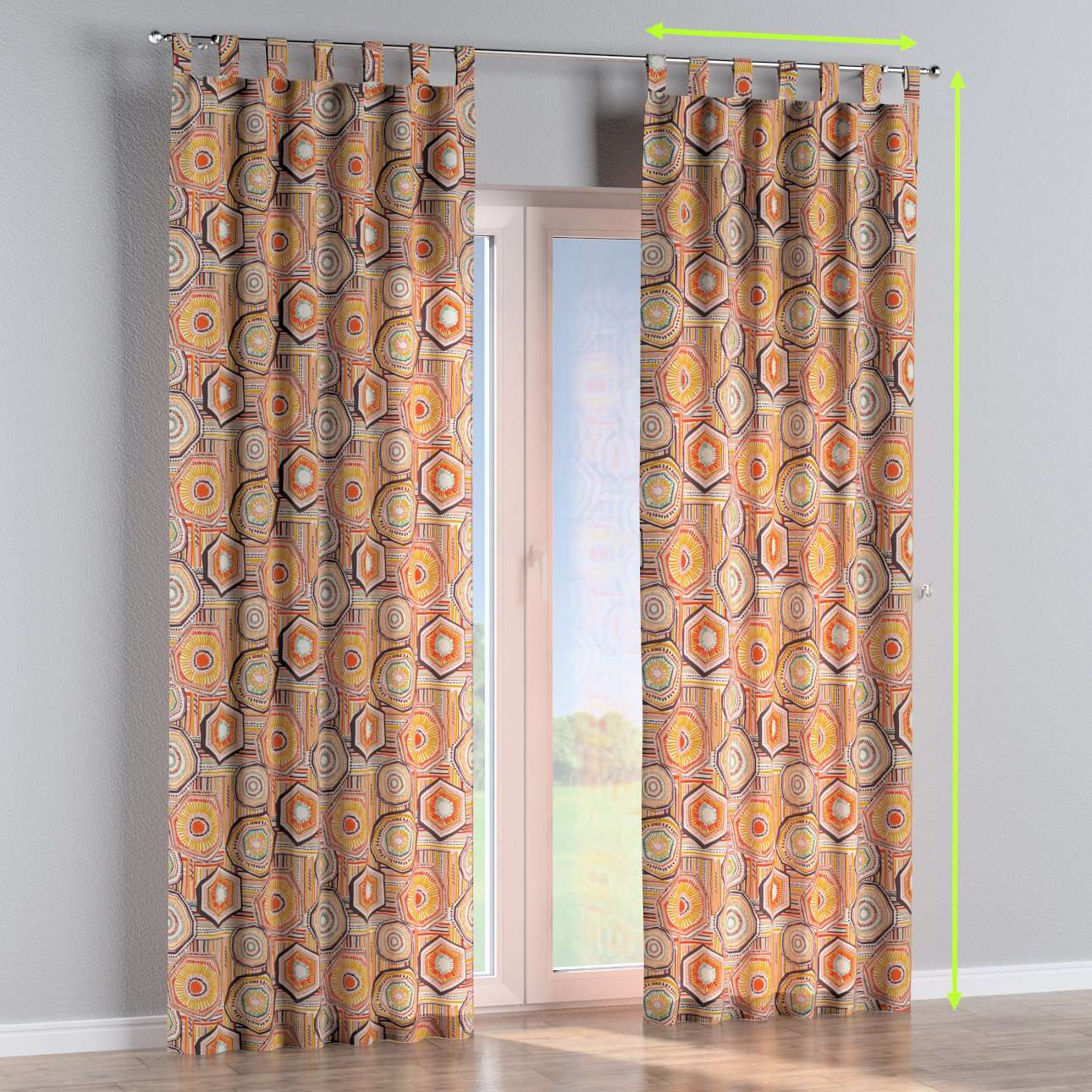Tab top curtains in collection New Art, fabric: 141-55