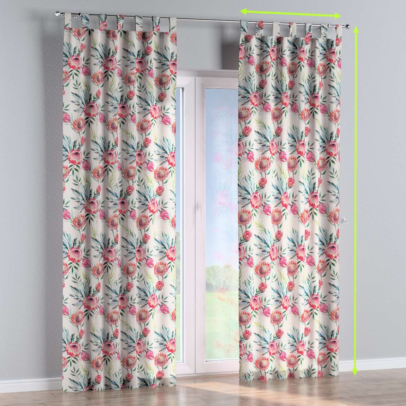 Tab top curtains in collection New Art, fabric: 141-59