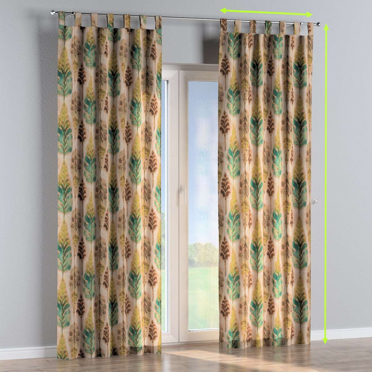 Tab top curtains in collection Urban Jungle, fabric: 141-60