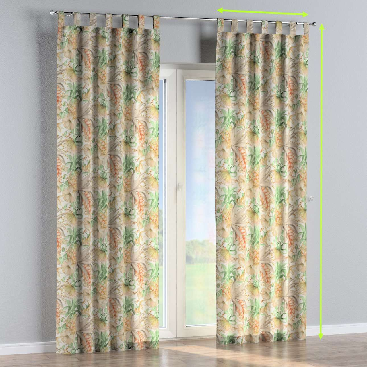 Tab top curtains in collection Urban Jungle, fabric: 141-61