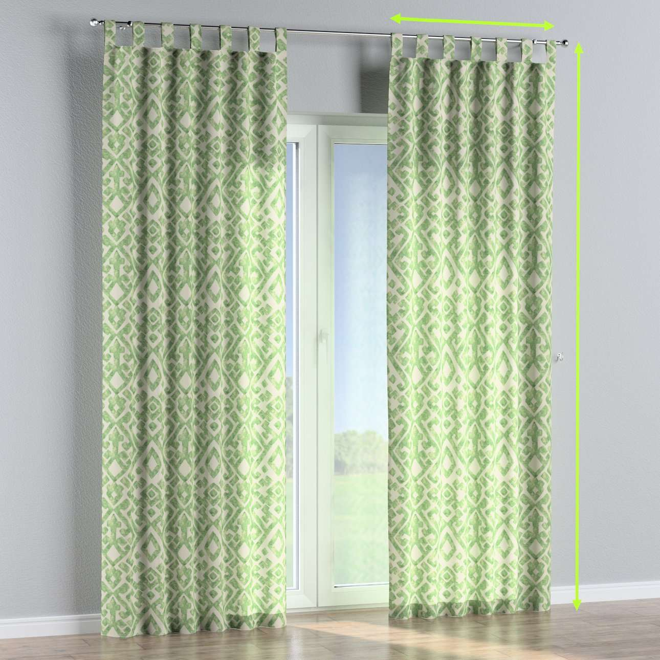 Tab top curtains in collection Urban Jungle, fabric: 141-62