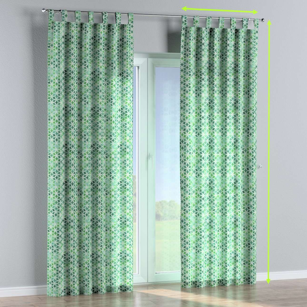 Tab top curtains in collection Urban Jungle, fabric: 141-65