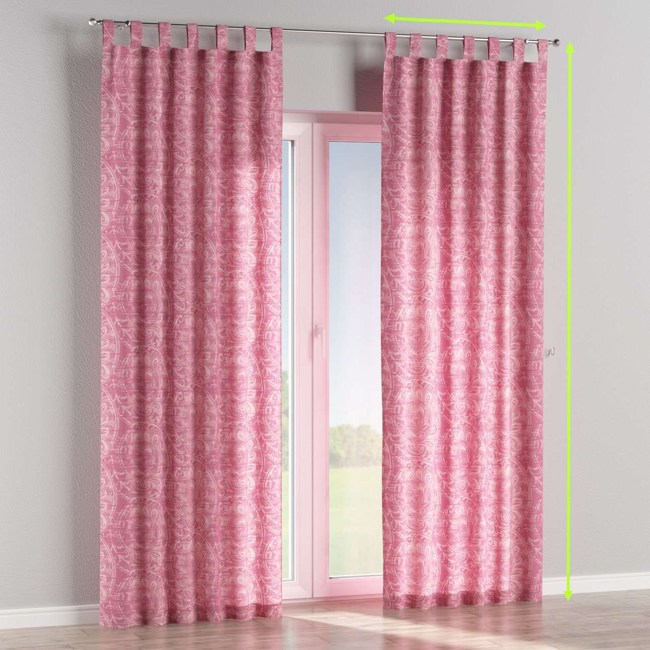 Tab top curtains in collection Mirella, fabric: 143-07