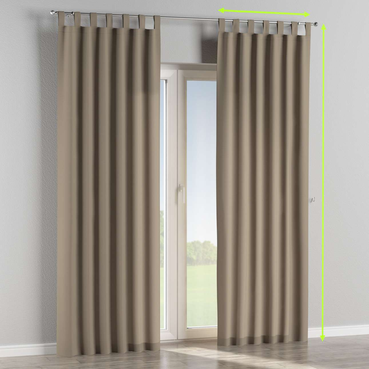 Tab top curtains in collection Panama Cotton, fabric: 702-28
