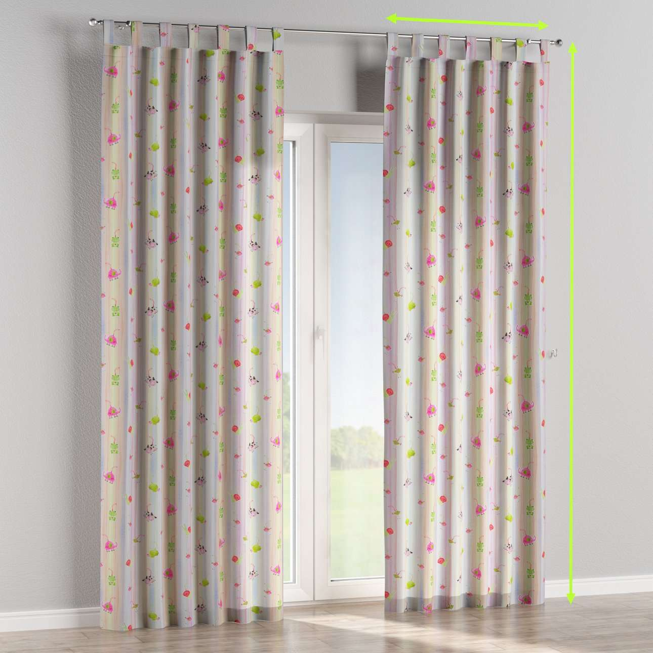 Tab top curtains in collection Apanona, fabric: 151-05