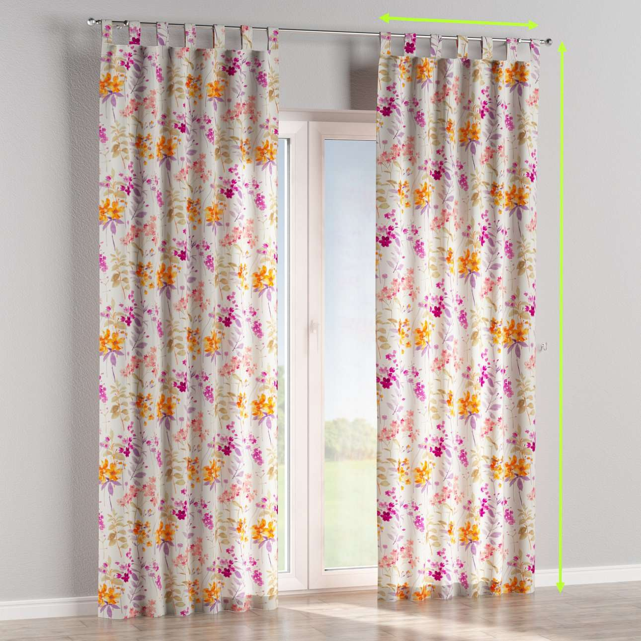 Tab top curtains in collection Monet, fabric: 140-04