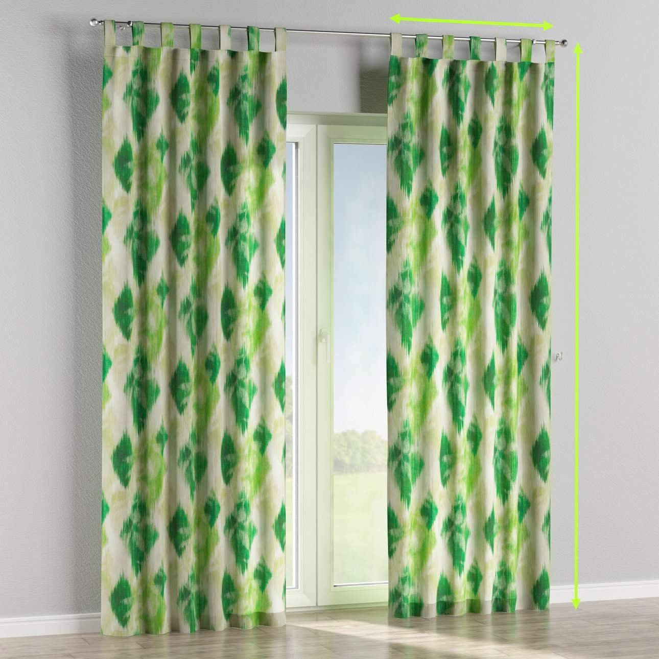 Tab top curtains in collection Aquarelle, fabric: 140-70