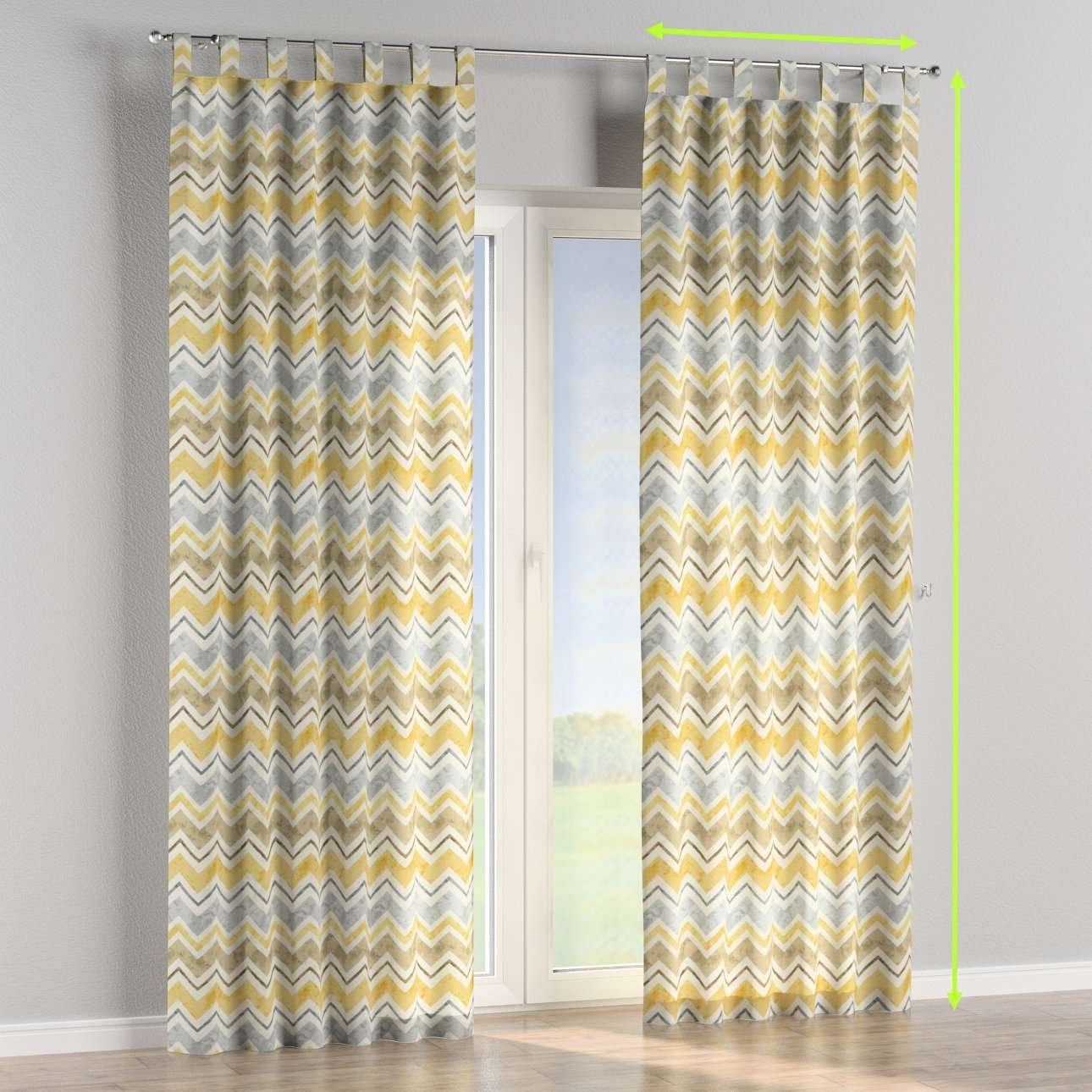 Tab top curtains in collection Acapulco, fabric: 141-39