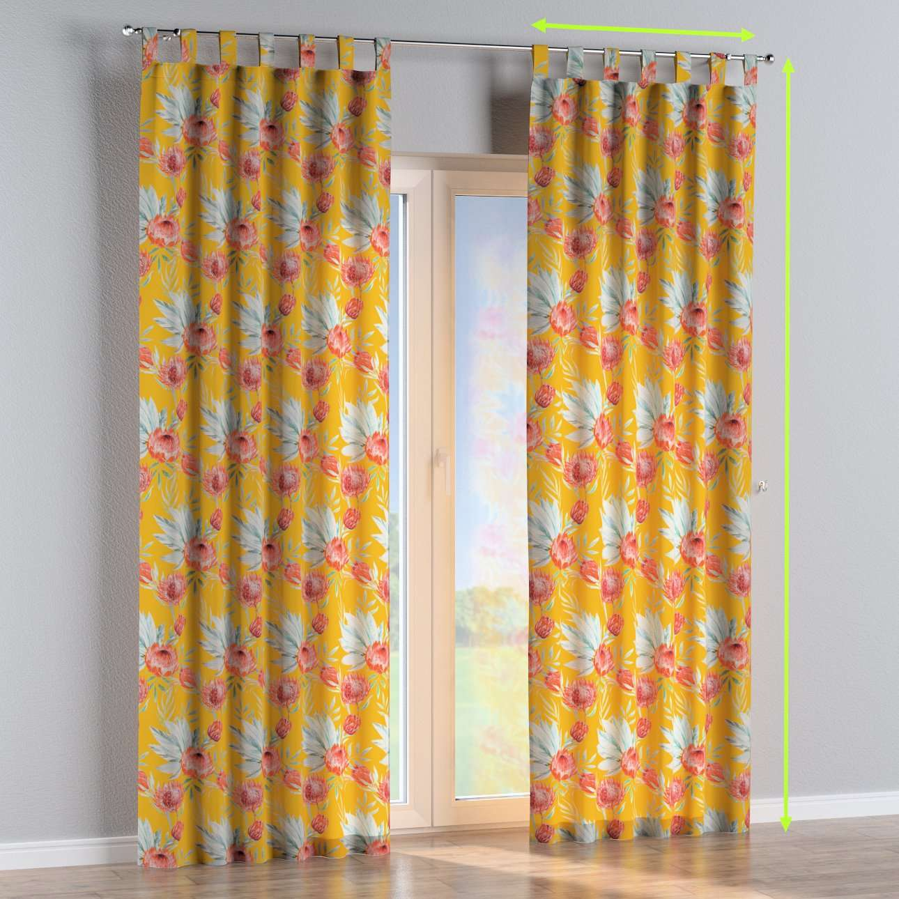 Tab top curtains in collection New Art, fabric: 141-58
