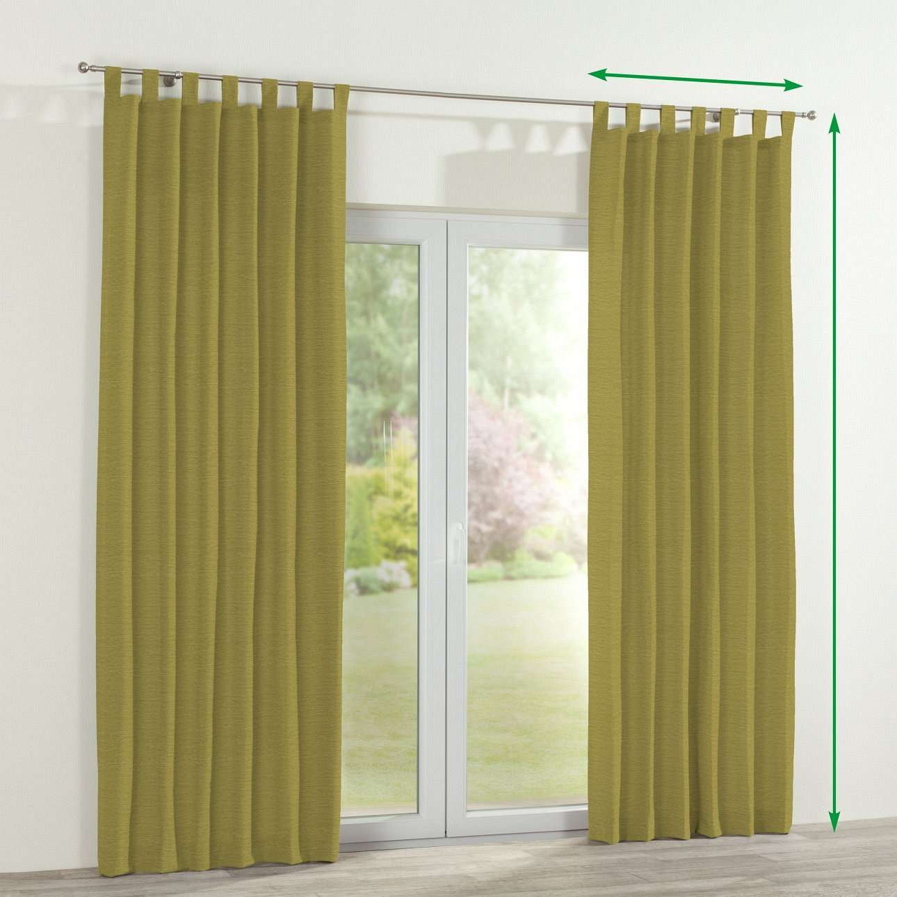 Tab top curtains in collection Chenille, fabric: 160-47