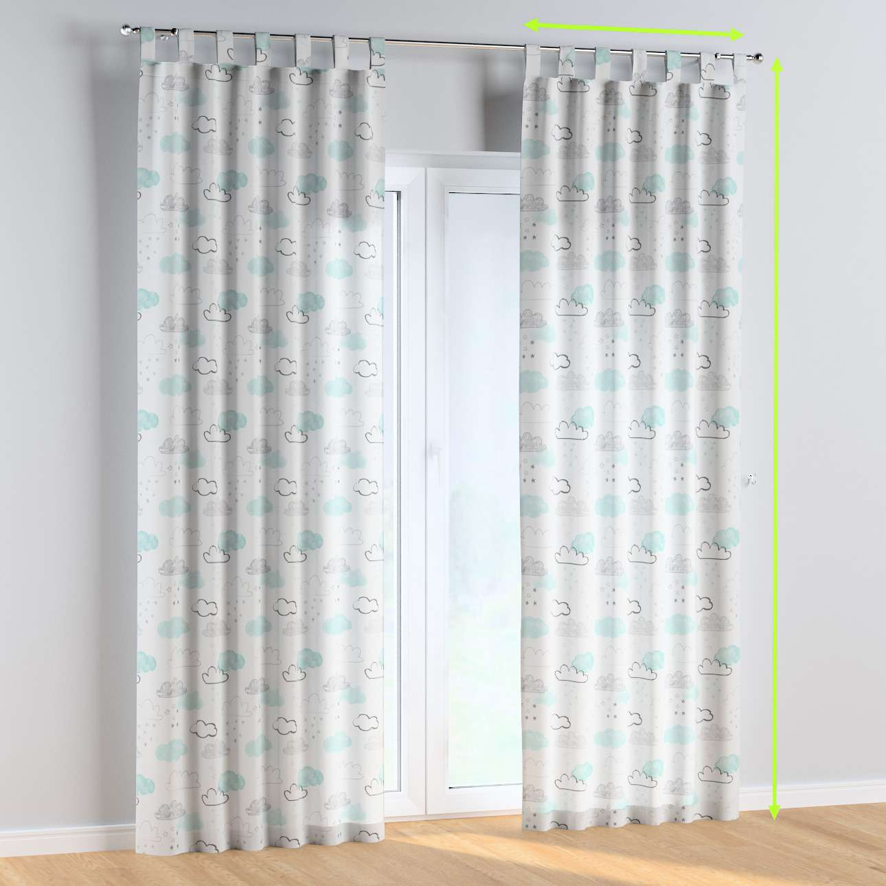 Tab top curtains in collection Magic Collection, fabric: 500-14