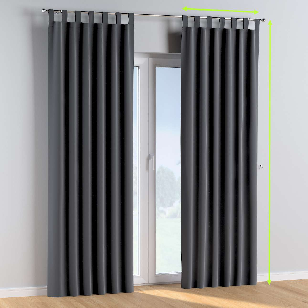 Tab top curtains in collection Posh Velvet, fabric: 704-12