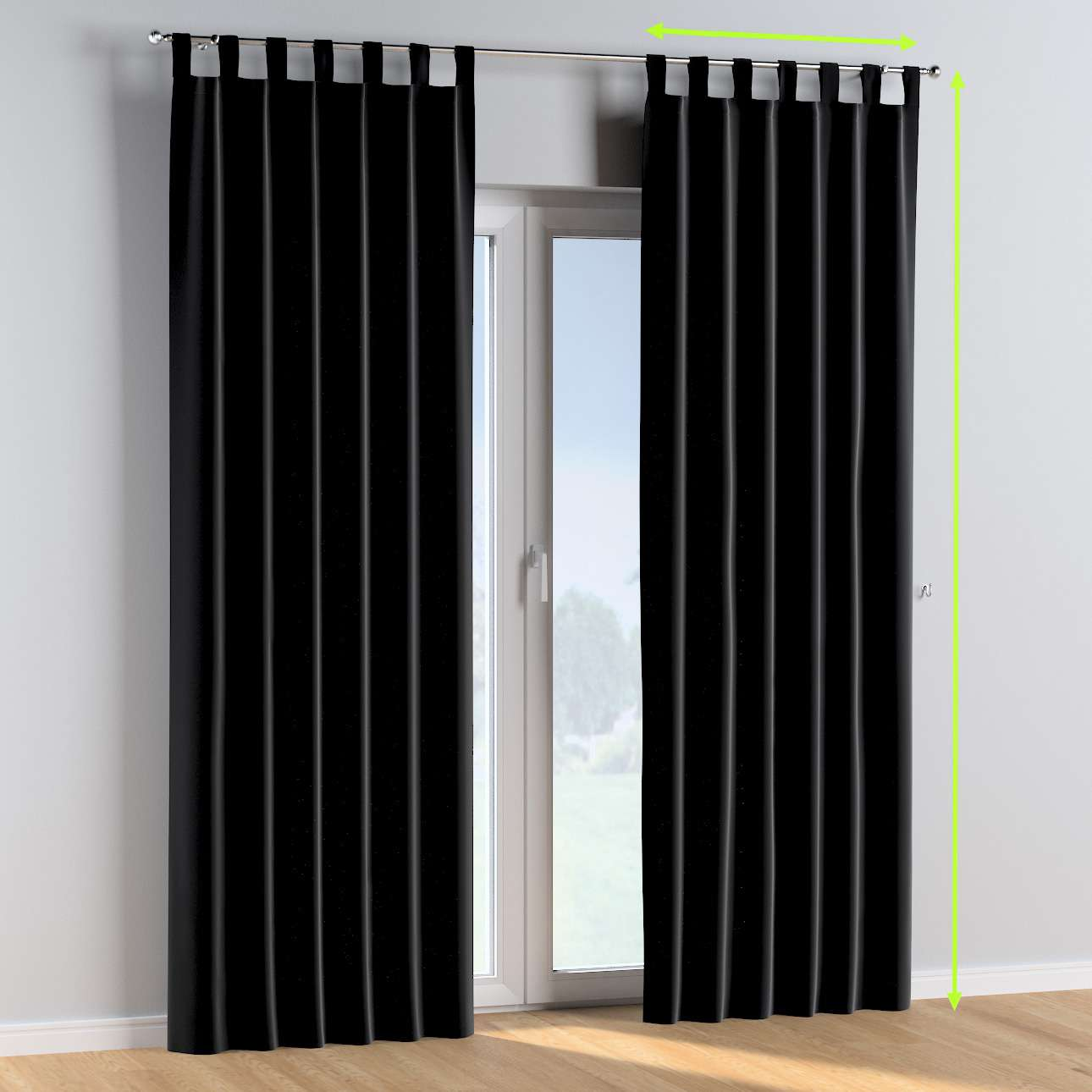 Tab top curtains in collection Posh Velvet, fabric: 704-17