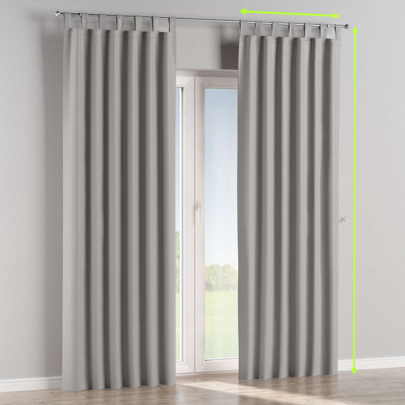 Tab top curtains in collection Blackout, fabric: 269-64