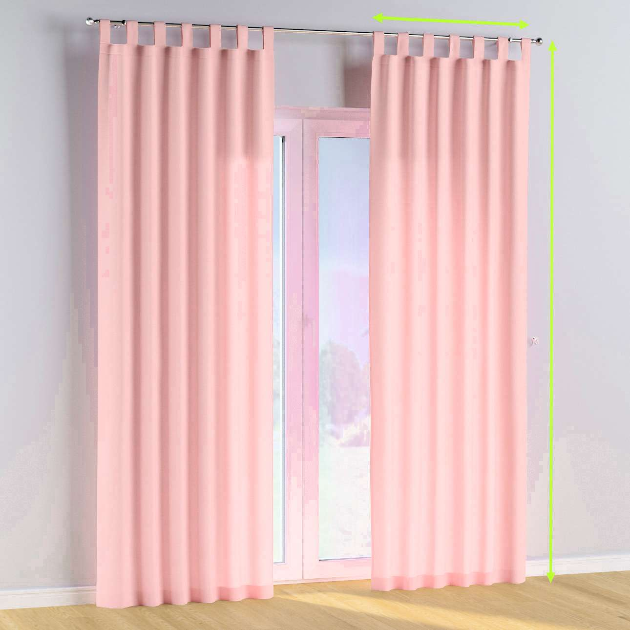 Tab top curtains in collection Happiness, fabric: 133-39