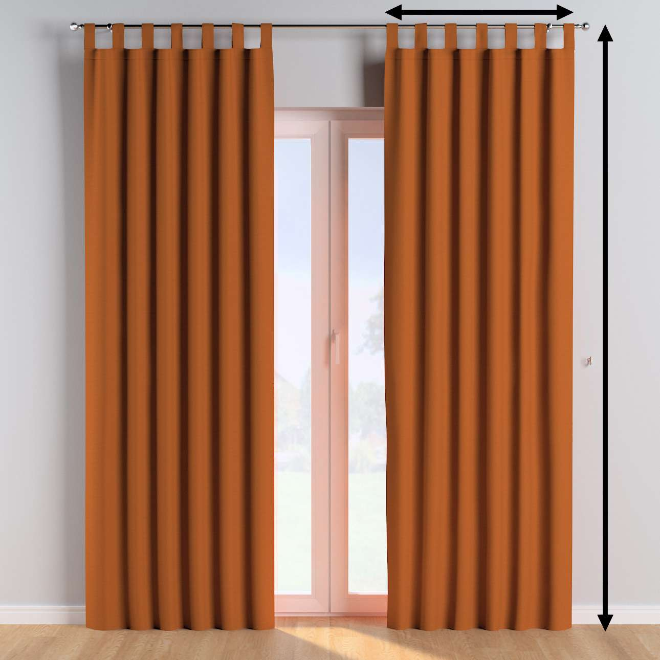 Tab top curtains in collection Cotton Story, fabric: 702-42