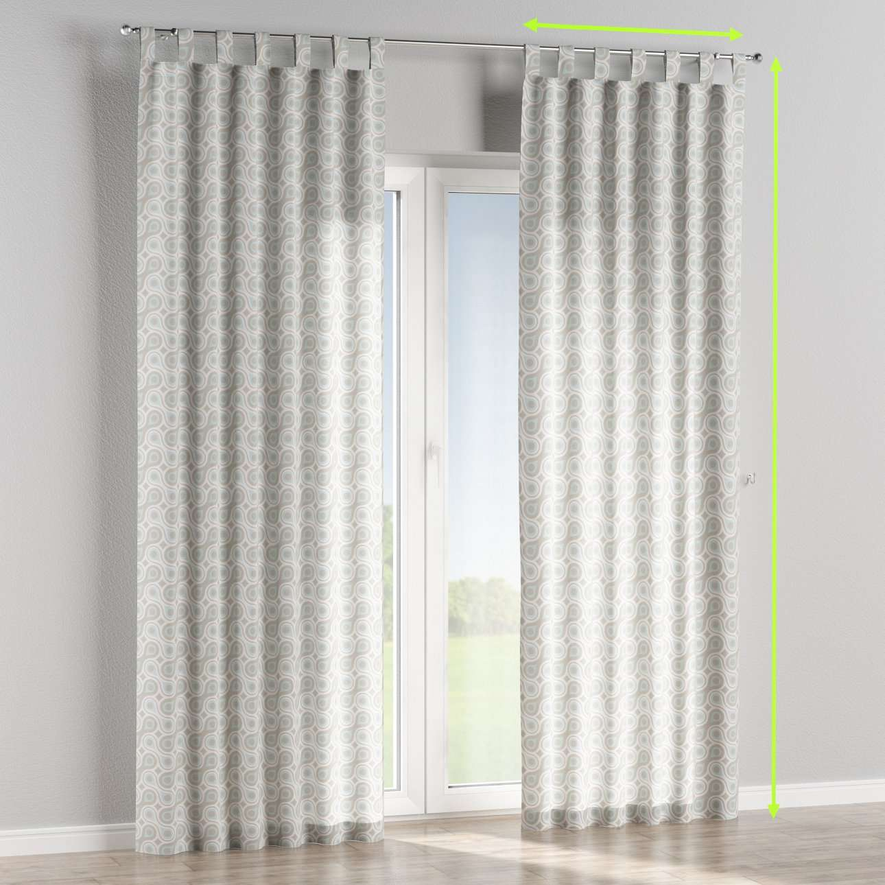 Tab top curtains in collection Flowers, fabric: 311-13