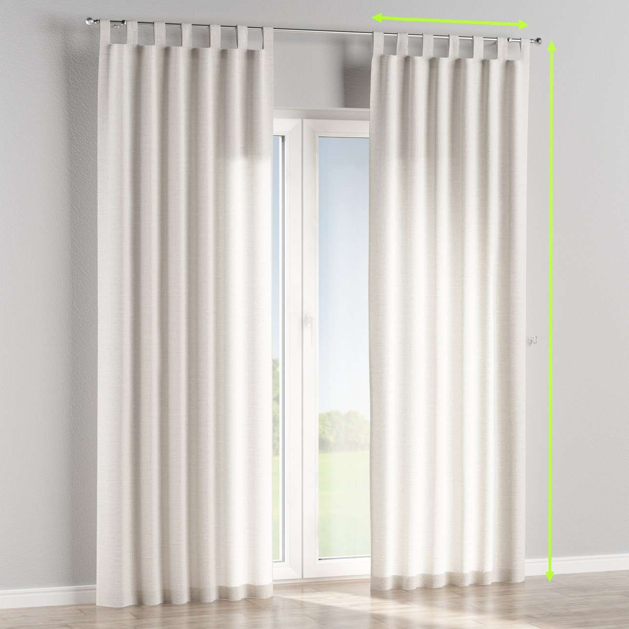 Tab top curtains in collection Linen , fabric: 392-04