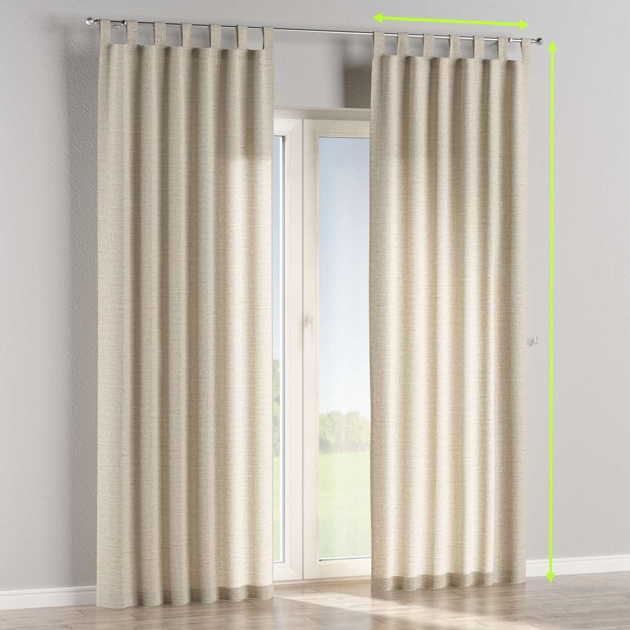 Tab top curtains in collection Linen , fabric: 392-05