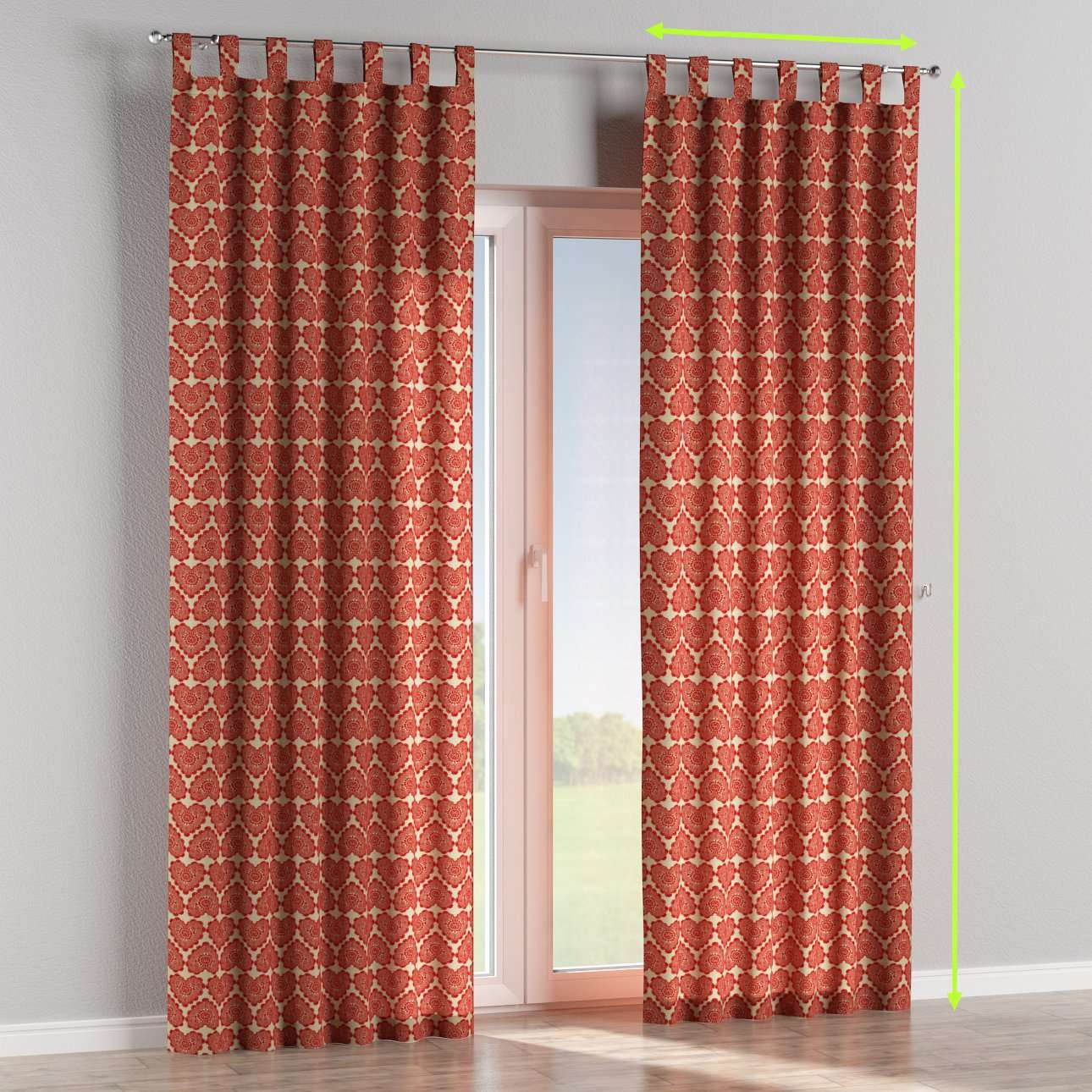 Tab top curtains in collection Freestyle, fabric: 629-17