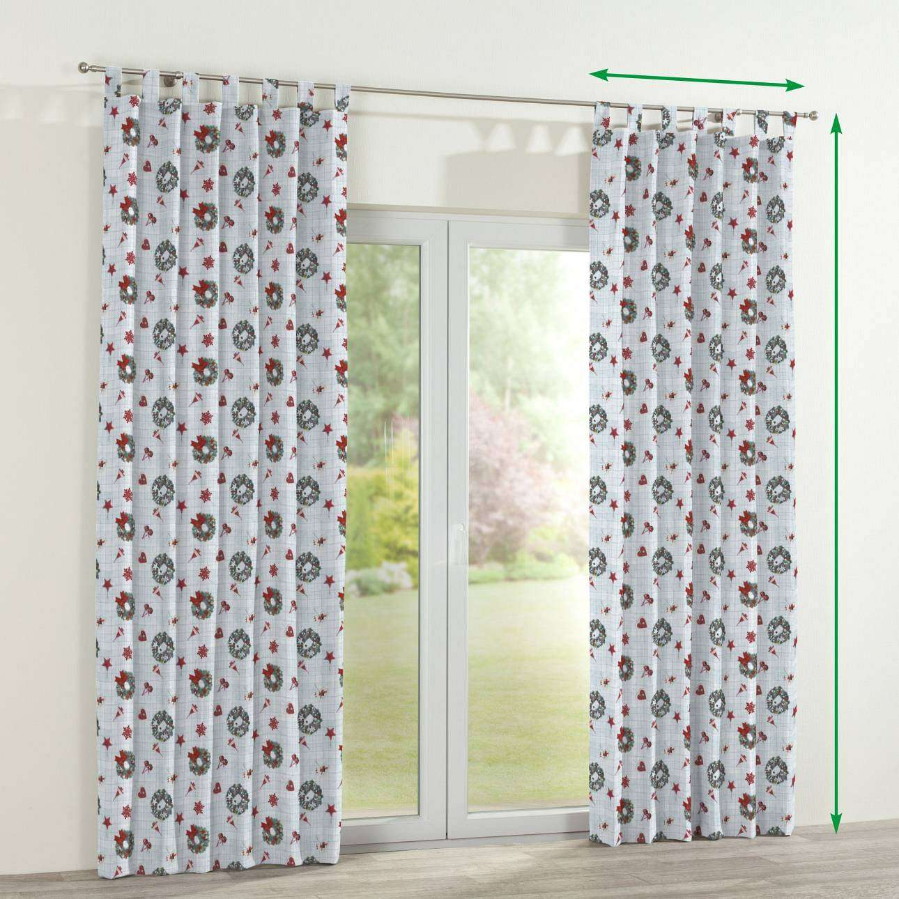 Tab top curtains in collection Christmas , fabric: 629-26