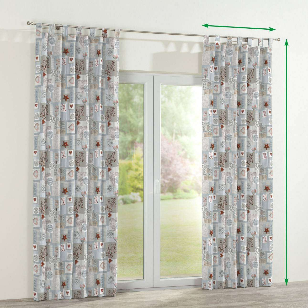 Tab top curtains in collection Christmas , fabric: 629-27