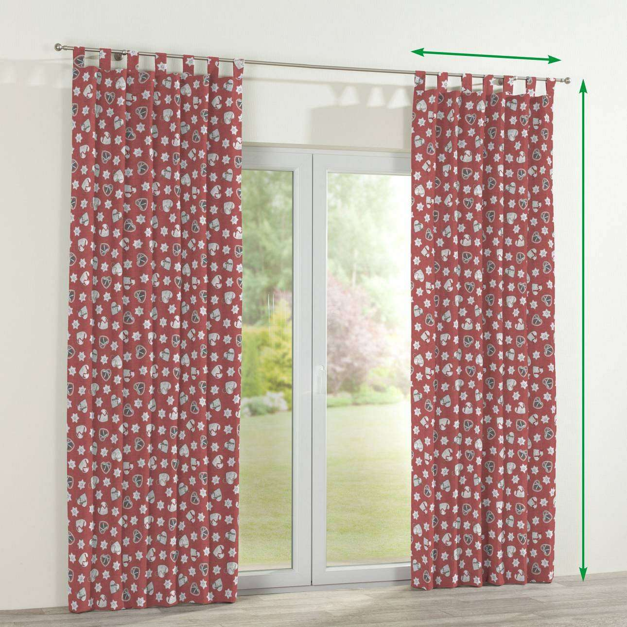 Tab top curtains in collection Christmas , fabric: 629-29