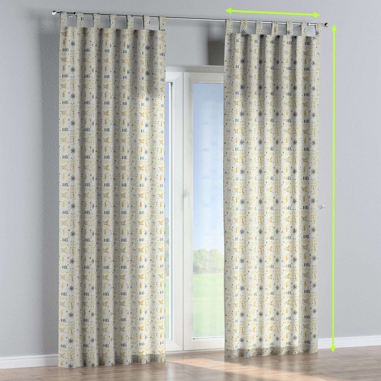 Tab top curtains in collection Christmas, fabric: 629-34