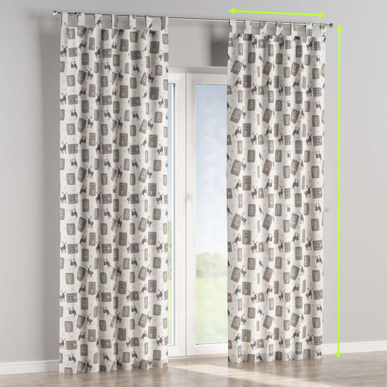 Tab top curtains in collection Christmas, fabric: 630-10