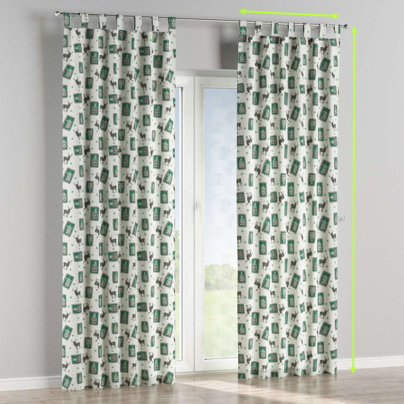 Tab top curtains in collection Nordic, fabric: 630-13
