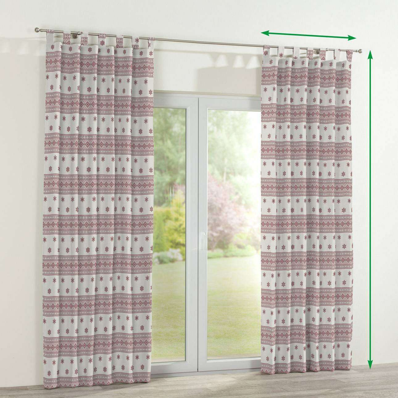 Tab top curtains in collection Christmas , fabric: 630-23