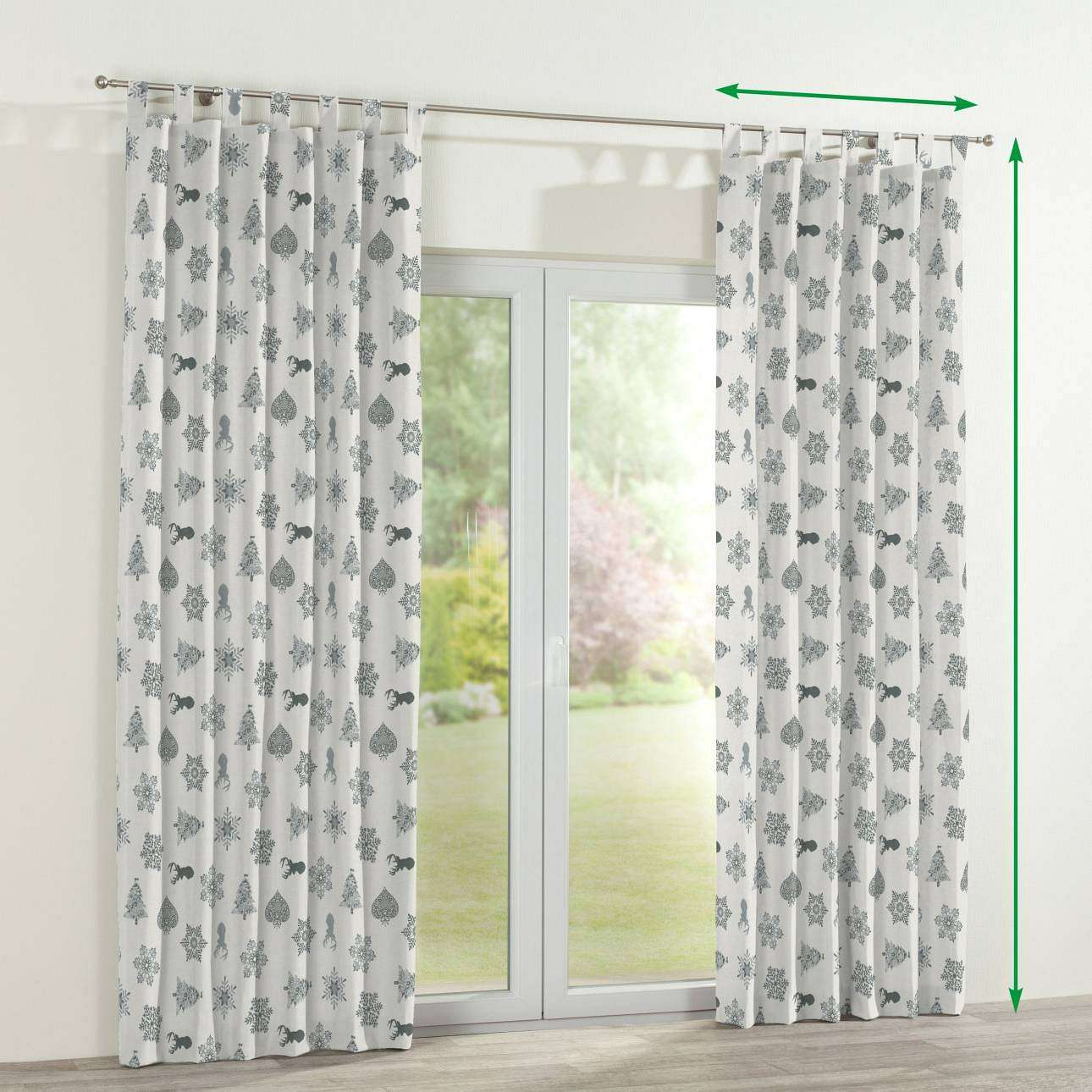 Tab top curtains in collection Christmas , fabric: 630-24