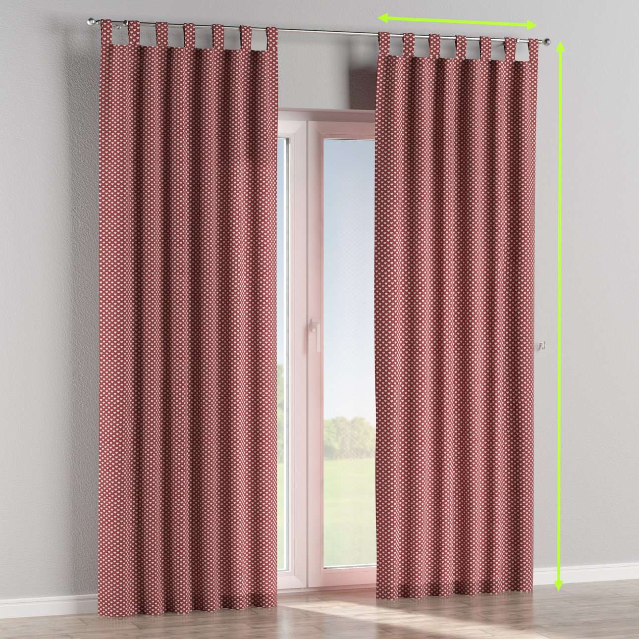 Tab top curtains in collection Nordic, fabric: 630-40