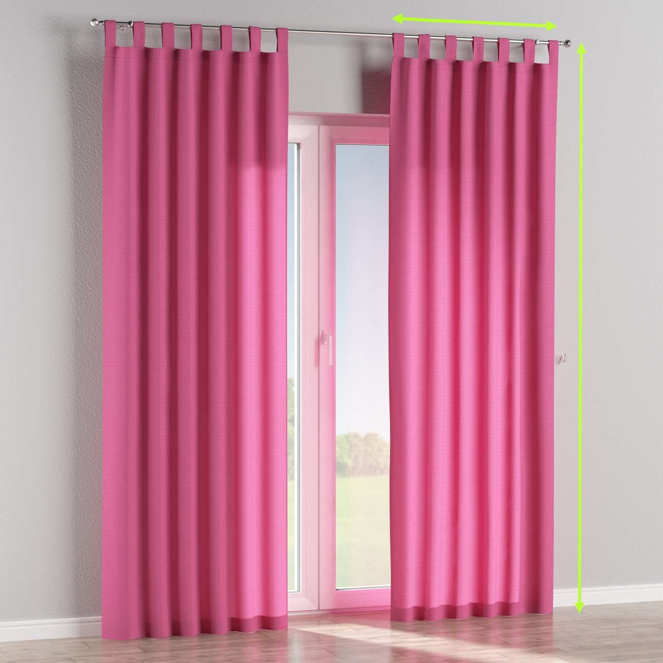 Tab top curtains in collection Jupiter, fabric: 127-24
