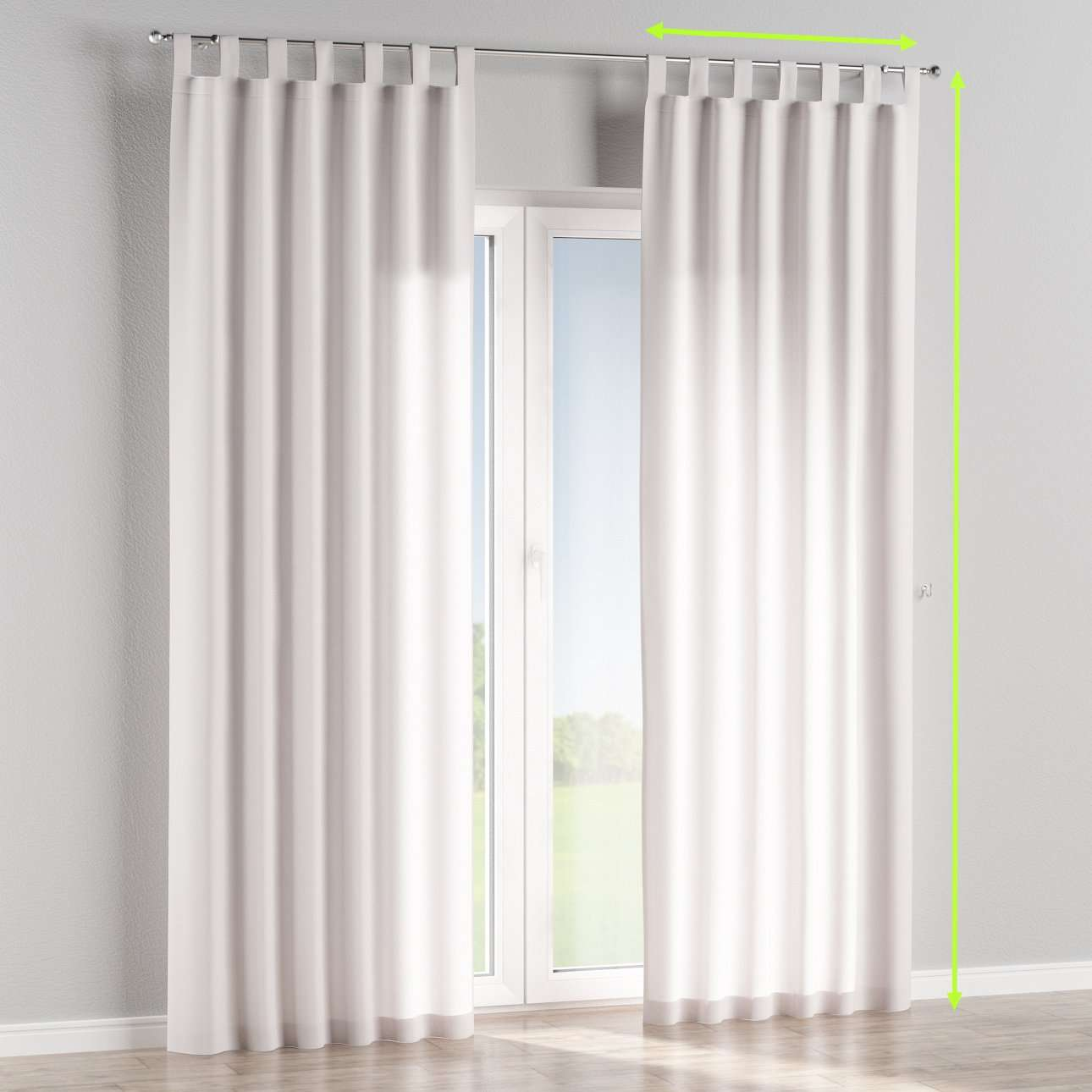 Tab top curtains in collection Cotton Panama, fabric: 702-00