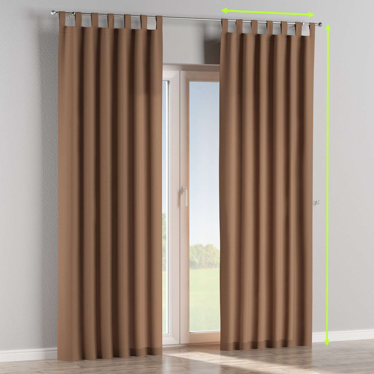 Tab top curtains in collection Cotton Panama, fabric: 702-02