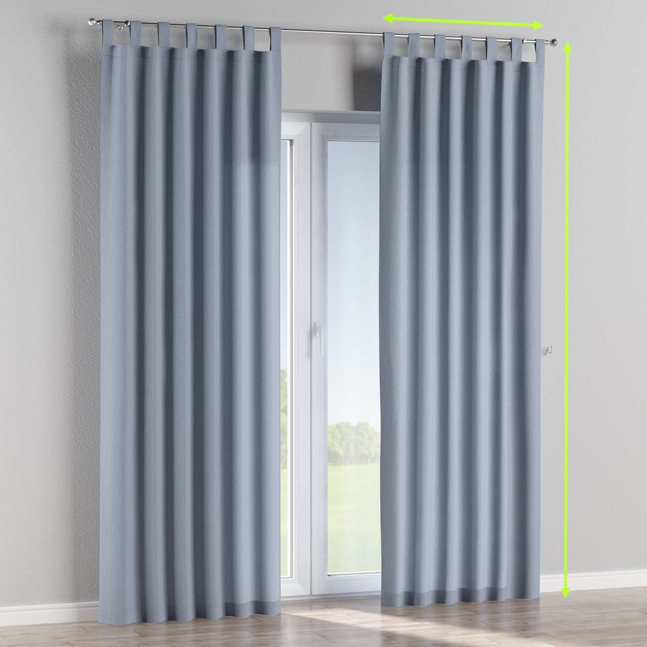 Tab top curtains in collection Chenille, fabric: 702-13