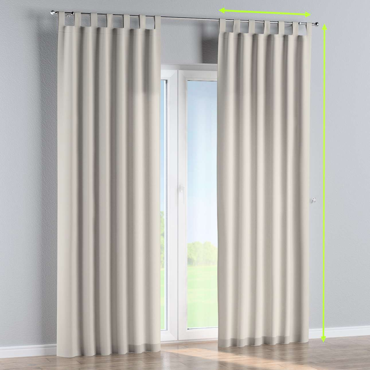 Tab top curtains in collection Cotton Panama, fabric: 702-31