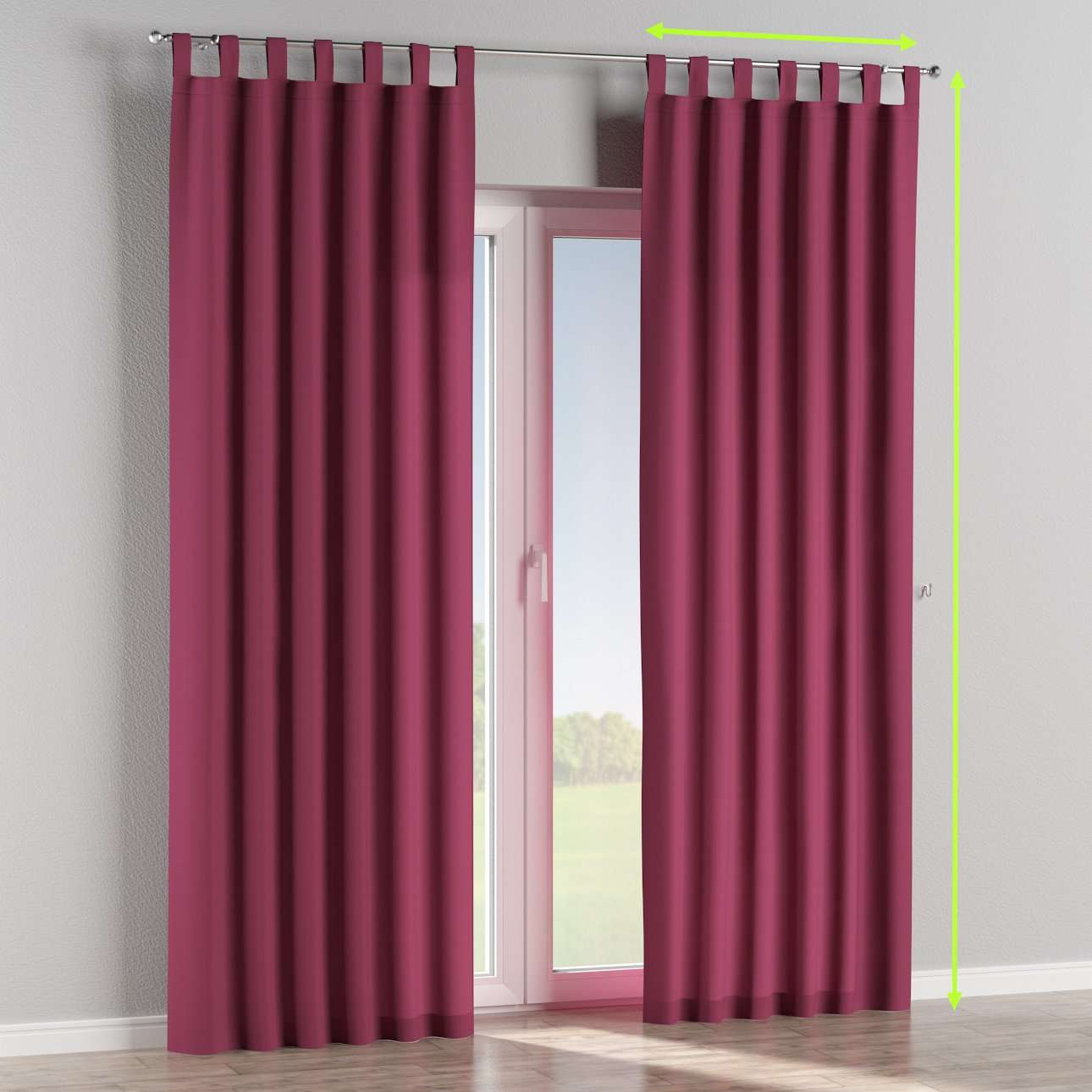 Tab top curtains in collection Cotton Panama, fabric: 702-32